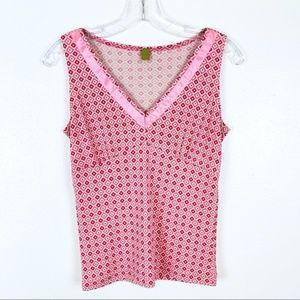 Omnia Pink Diamonds Silk Sleeveless Top 6